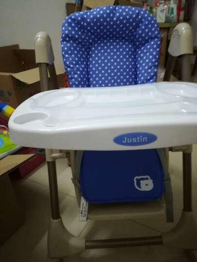 佳田(JUSTIN) 【买一送三】可折叠儿童餐椅 婴儿餐桌椅宝宝吃饭多功能座椅子 蓝色波点 晒单图