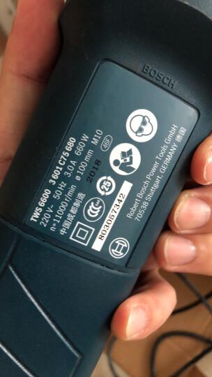 博世(BOSCH) 角磨机 手砂轮多功能角向磨光机 电动打磨抛光机 金属切割GWS660 套餐七 主机+手柄+碳刷 晒单图