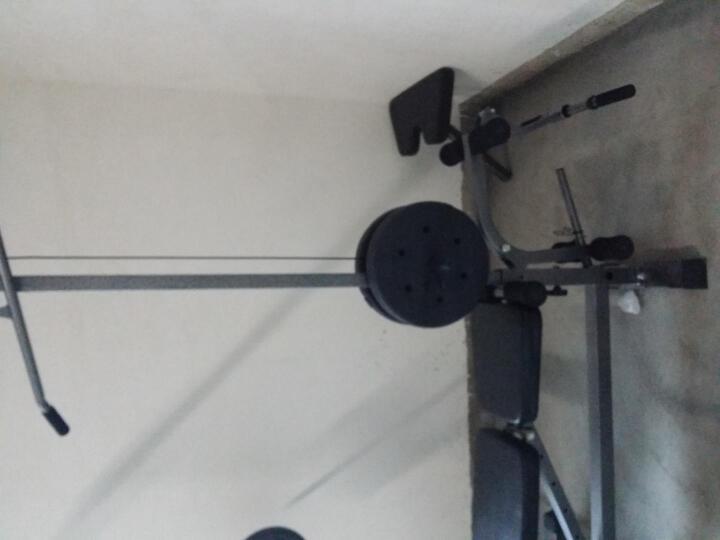力景特109多功能框式举重床家用杠铃架深蹲卧推综合训练器健身器材套装 举重床配80公斤电镀杠铃 晒单图