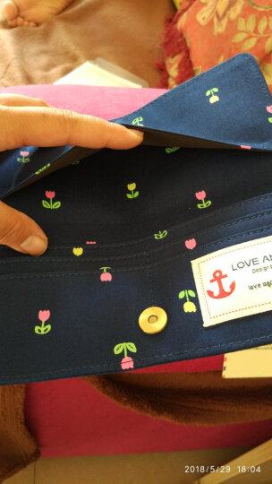 SUPERLOVER帆布钱包女士长款薄韩版学生卡通简约布艺女生手拿钱夹 英式田园 晒单图