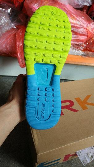 鸿星尔克ERKE跑鞋新款情侣款全掌气垫减震运动慢跑鞋男款51116120028正黑/酸橙绿42码 晒单图
