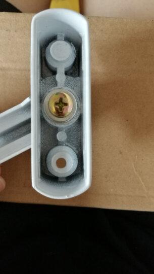 格奥德 T型月牙锁 塑钢平开窗锁扣 五金配件门窗防盗锁 白色 T型锁YY015-LS 晒单图