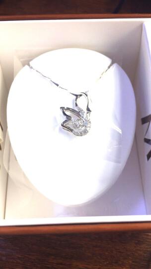 MyMiss项链女 925银镀铂金吊坠 锁骨链配饰品女 镶嵌施华洛世奇合成立方氧化锆 情人节礼物 丝丝心动 晒单图
