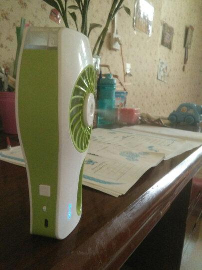 静音制冷喷雾加湿小风扇USB充电风扇迷你便携式学生小风扇桌面加湿器空调风扇美容补水风扇 浅绿 晒单图