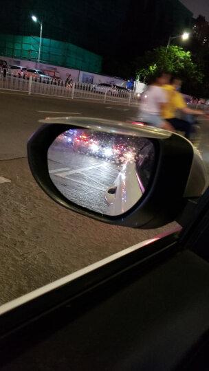 洛饰奇倒车小圆镜后视镜雨眉汽车倒车镜遮雨板晴雨挡反光镜遮雨挡广角镜高清无边360度可旋转去盲点 透明白雨眉一对 晒单图
