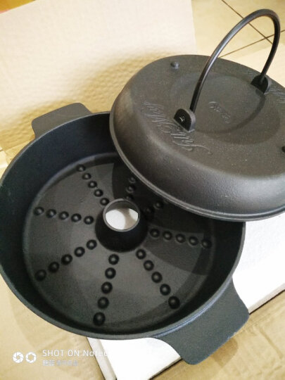 铸味(Jill May)22cm铸铁烤锅土豆红薯烤锅 晒单图