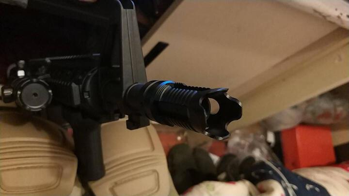 下供弹M4玩具枪金属NERF改装配件 可调节仿真模型消音器 M1骑士火帽 晒单图