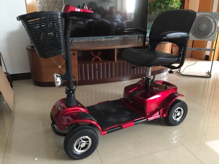 普莱德 老年代步车 F45老人电动车四轮智能折叠老年人代步车 残疾人助力进口老人电动轮椅 F45红色配20A铅酸电池续航30KM 晒单图