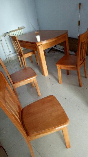 鲁菲特 实木餐桌 可伸缩折叠实木餐桌椅组合 餐桌餐椅套装 圆形饭桌子  lzc_630 1.5米胡桃色 一桌4椅(配912餐椅) 晒单图