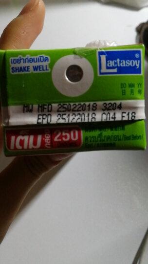 力大狮 Lactasoy 绿茶味豆奶 250ml*12盒 泰国进口 营养早餐 豆奶 晒单图