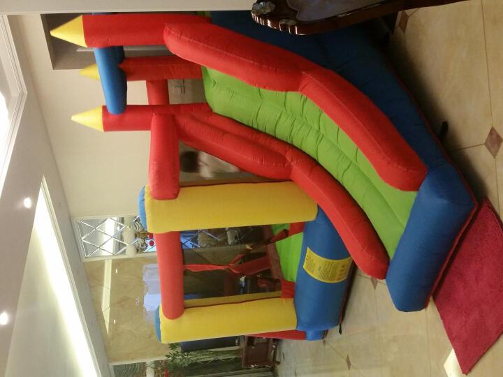 博士豚室内儿童充气城堡蹦蹦床大型游乐场户外玩具孩子篮球滑滑梯 晒单图