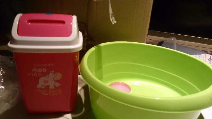 【特深洗衣盆】茶花塑料洗衣盆大号儿童洗浴盆加厚洗脚盆 大号绿色 晒单图