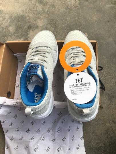 361度运动鞋男鞋夏季休闲鞋网面透气跑步鞋子 N 中灰/黄 40 晒单图