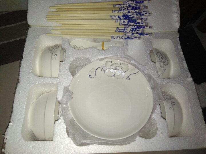 陶沁泉 碗碟套装北欧简约陶瓷餐具菜盘子碗筷组合景德镇家用早餐创意西餐盘ins面碗汤碗组合餐具套装 长颈鹿 4碗4盘4勺4筷1大勺1汤碗2面碗 晒单图