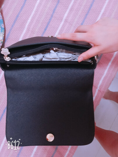 欧时纳(JUST STAR)单肩包女新款女包 手提包简约时尚女包包 甜萌原创设计小猫包JS982樱花粉 晒单图