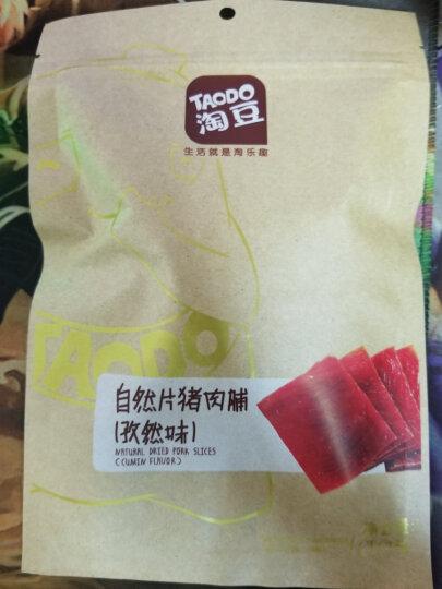 淘豆(TAODO)自然片猪肉脯孜然味靖江特产肉干休闲零食品肉类小吃100g 晒单图