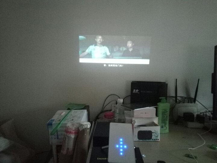 清华美迅(UNISMAISON)C1微型智能投影仪家用wifi无线家庭影院办公迷你家用投影机 白色 官方标配  有线同屏 晒单图