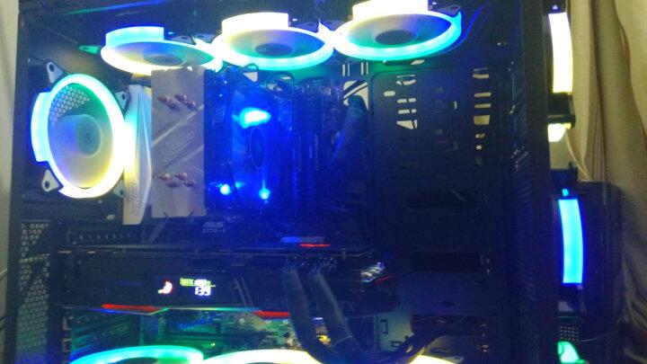 金河田(Golden field)峥嵘R6白色台式机电脑机箱 全侧透水冷游戏玻璃机箱(ATX/MATX/MINI-ITX/360冷排) 晒单图