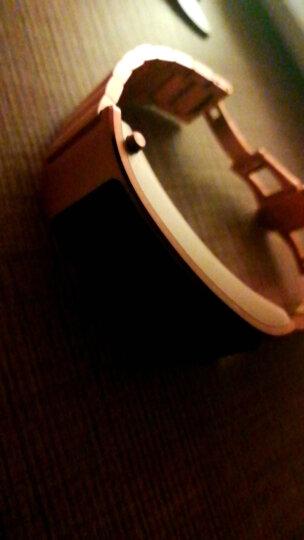 华为手环B3 运动商务真皮金属不锈钢硅胶智能手环腕带时尚表带 不锈钢玫瑰金色-此款为表带勿拍 晒单图