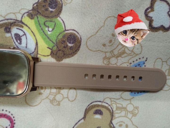 DMDG老人定位手表 儿童智能通话定位手表 手机电话手表 GPS定位老人防丢追踪 土豪金+棕色表带(适合手臂较粗者购买) 晒单图