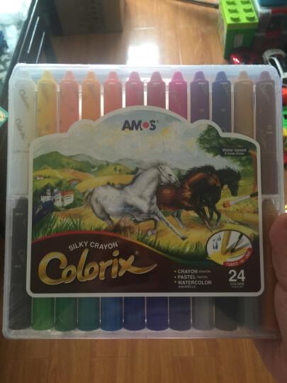 阿摩司AMOS韩国Colorix旋转蜡笔儿童旋转蜡笔 水溶性炫彩棒 可擦可水洗油画棒24色塑料盒套装 晒单图