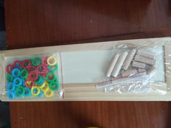 三格田(SANGTY) 儿童数学教具对数板早教益智力幼儿园积木质制玩具2-3-5岁 数学教具/教学对数板 晒单图