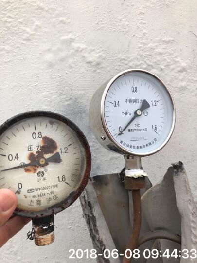 润能 不锈钢压力表YBF100蒸汽表防腐耐高温压力表 表盘直径100径向压力表 0-40Mpa 晒单图