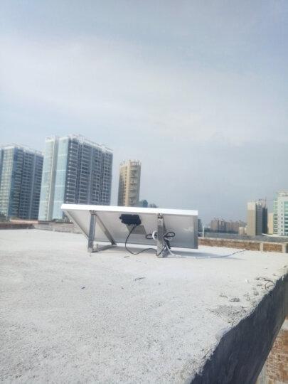 家用12V太阳能发电系统全套小型光伏太阳能电池板户外多功能移动电源照明灯手机充电USB风扇 10W板4A电池 晒单图