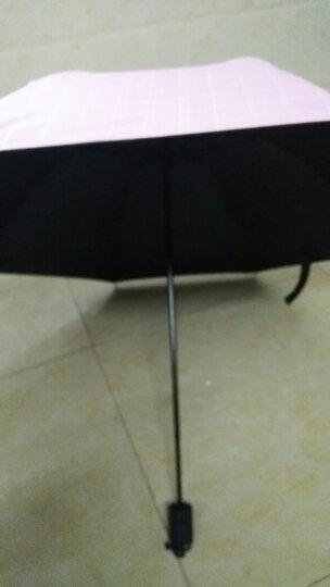 太阳伞女防紫外线商务英伦格子遮阳伞黑胶折叠创意防风防晒伞女生用北欧简约风小清新雨伞晴雨两用 英伦格子-粉色 晒单图