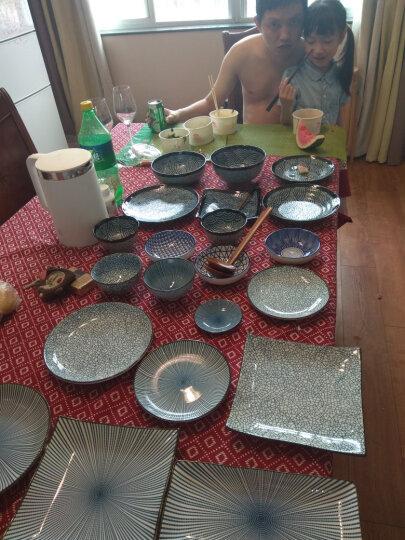 舍里 日式和风创意陶瓷盘子 圆盘平盘调味碟 点心盘水果盘餐盘凉菜盘 冰裂纹4.5寸饭碗(11.3cm) 晒单图