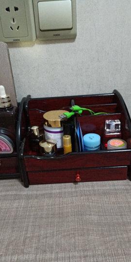 信发(TRNFA) TN-815 木质笔筒收纳座 办公桌面整理架置物柜 化妆品遥控器收纳用品盒 晒单图