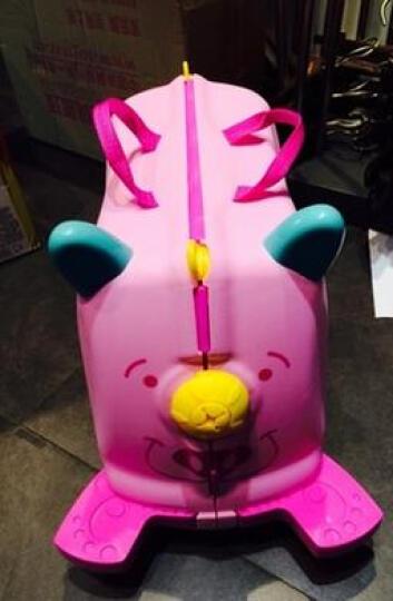 KO SHENG 儿童行李箱旅行箱可坐拖拉玩具骑行小孩宝宝个性拉箱子儿童礼物 懒懒猪10036 晒单图