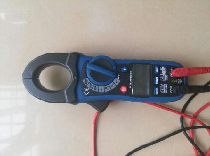 华盛昌(CEM)DT-360 钳形表 万用表 数字电流表 交流钳形万用表 钳型万能表 自动量程 晒单图