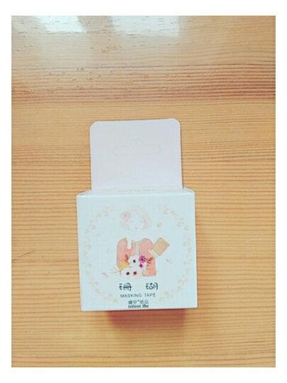 手账胶带日式DIY装饰手撕彩色和纸胶带 手账花纹少女手帐周边贴纸 少女粉-珊瑚 30mm 晒单图