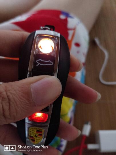 充电打火机 USB电子点烟器豪车钥匙电弧创意防风个性非煤油充气送朋友生日礼物 黑色 晒单图