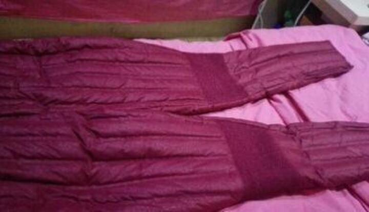 雅鹿中老年羽绒裤女高腰加厚修身内穿妈妈内胆棉裤白鸭绒大码冬季 紫色玫瑰花 170 晒单图