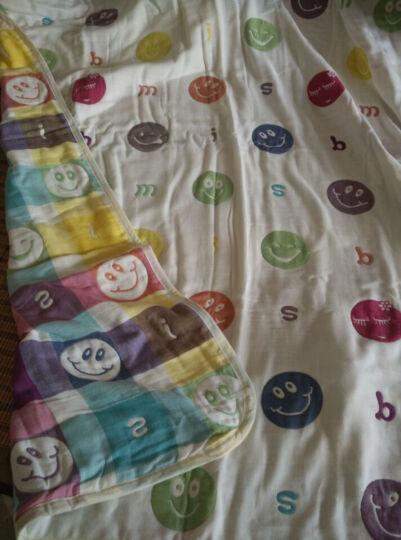 自然密码(ZIRANMIMA) 纱布口水巾婴儿洗脸毛巾新生儿用品宝宝小方巾儿童手帕绢 2条装笑哈哈手帕(26*26cm) 晒单图