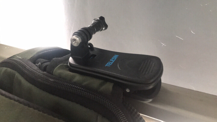 TELESIN Gopro6背包夹HERO5 4配件360度可旋转固定夹 小蚁4K相机适用 gopro背包夹送螺丝 晒单图