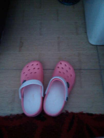 回力洞洞鞋新款女款沙滩鞋凉拖透气拖鞋凉鞋 049 红色 38 晒单图