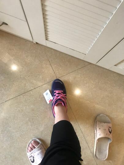 特步女鞋18年春季运动鞋女 新款网面冬季皮面女士跑步鞋休闲慢跑鞋子 黑红色(冬季皮面款) 39 晒单图