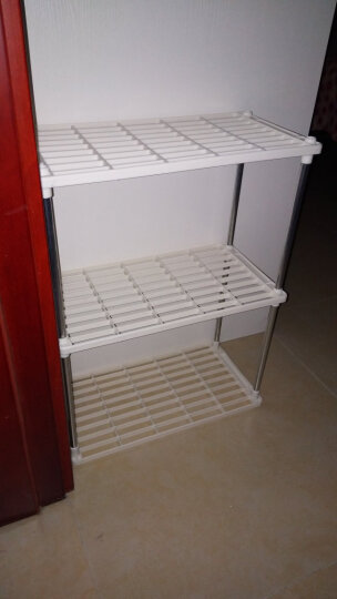 亚思特防锈喷涂微波炉层架/厨房/浴室多用途置物架/收纳架/储物架 3层置物架 晒单图