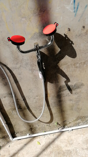 安赛瑞 立式洗眼器 304不锈钢应急洗眼器 双头冲淋洗眼器 14748 晒单图