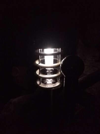 裕见不锈钢草坪灯 户外中式草地灯led园林景观灯庭院灯花园别墅灯路灯 大号压铸铝-黑色-市电款 晒单图