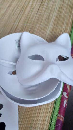 仕彩手工绘画纸浆狐狸脸谱面具白DIY幼儿园空白马勺白胚创意面具白胚活动 葫芦 晒单图