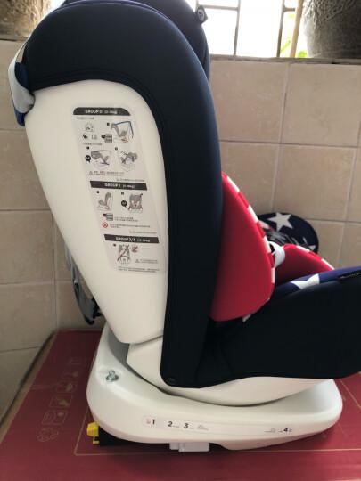 乖乖乐儿童安全座椅汽车用车载0-3-4-12岁宝宝婴儿坐椅正反安装可调节安全座座椅可坐可躺 安全带哈迪斯灰 晒单图