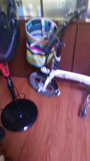 忍者风自行车车筐车篮子电动车前车筐帆布折叠车篓山地车挂篮带盖菜篮子 黑色 带盖 晒单图