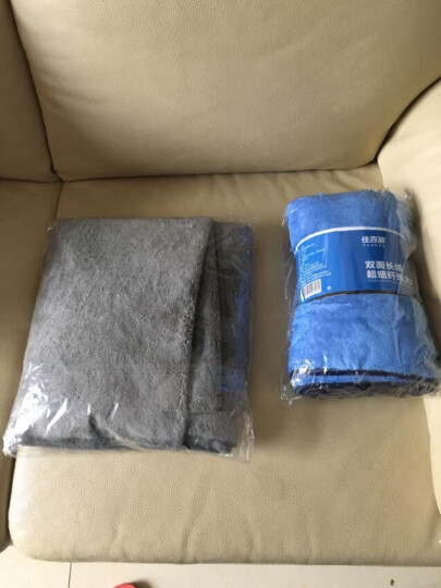 佳百丽 洗车毛巾细纤维吸水擦车毛巾洗车布 三条装40*40cm+海绵 汽车用品 晒单图