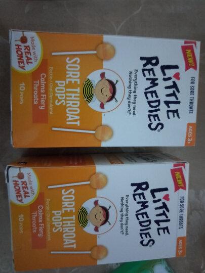 Little remedies 【香港发货】美国蜂蜜止ke棒棒糖天然顺势蜂蜜止喉痛 10支/盒 2盒 晒单图