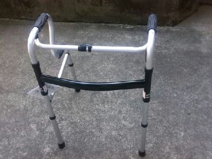 卫宜康 助行器 四脚老人轻便可折叠偏瘫中风脑梗塞康复训练器材坐便器马桶扶手起身可带轮带座学步车拐杖 带轮可拆款B 晒单图