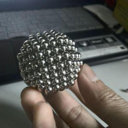 魔力磁球巴克球巴基球磁铁球磁力珠球磁珠魔方创意生日礼物送七夕情人节礼物小礼品减压解压玩具孩子学生 5mm圆形(珍珠白)(多送8颗) 晒单图